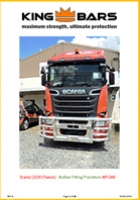 Scania (1020 Chassis) Bullbar Fitting